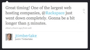 Justin Timberlake and Rackspace